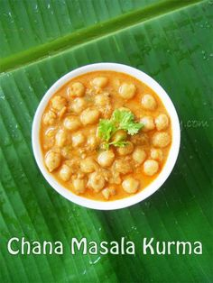 Chana Masala Kurma- Chickpea cooked in tomato based coconut gravy with a blend of spices....from scratch!!