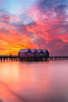 sunset from Busselton jetty in Australia's South West by Brian Kinson