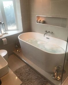 Bathroom inspo - 33 custom bath to inspire your own bathroom remodel 31 House Design, House Bathroom, Bathroom Interior Design, Custom Bath, New Homes, Small Bathroom, Bathroom Inspo, Dream Bathroom, Bathroom Decor
