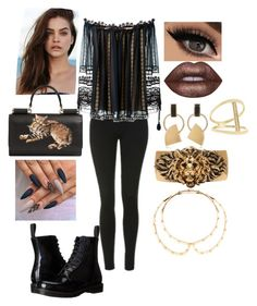 """""""8hh"""" by bama02614 on Polyvore featuring Topshop, Chloé, Dr. Martens, Dolce&Gabbana, Lime Crime, Sydney Evan, Yves Saint Laurent, Marni and Louis Vuitton"""