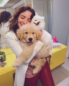 """183.5 mil curtidas, 4,247 comentários - SNAPCHAT: Tacialcolea  (@tacielealcolea) no Instagram: """"Quando a família aumenta e com muito amor ❤️☘️ Digam olá pro Pipoca """""""