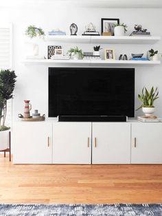 Image result for besta living room storage over fireplace