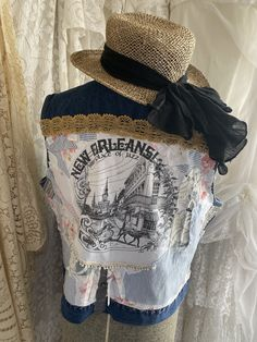 Excited to share this item from my #etsy shop: Shabby chic clothing, upcycled clothing, Jean jackets, denim vests, patchwork clothing, Jean sleeveless jackets Chic Clothing, Upcycled Clothing, Vintage Denim, Vintage Lace, Shabby Chic Dress, Sleeveless Jean Jackets, Denim Vests, Lace Outfit, French Chic