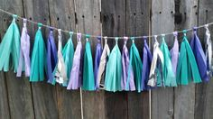 Mermaid tassel garland, mermaid party, under the sea, birthday party, first birthday, baby shower, party supplies, cake smash,nursery decor by BringYourOwnCake on Etsy https://www.etsy.com/listing/263523168/mermaid-tassel-garland-mermaid-party