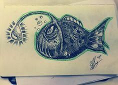 Angler fish #alinsart #sketch
