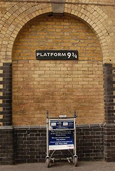 Platform at London's Kings Cross station. Since we arrive into London at Kings Cross station, this will need to be our first stop. Stonehenge, Oh The Places You'll Go, Places Ive Been, Harry Potter London, London Calling, West End, London Travel, London England, Trip Planning