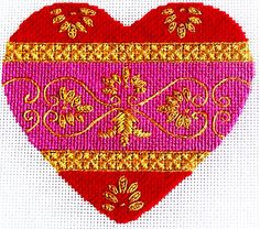 needlepoint stitches guide | As a reward for stitching class models, I let myself work on a couple ...