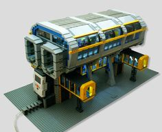 NXT powered monorail station. Brilliant.
