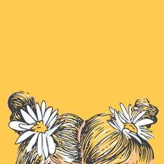 ~ s a l l y y c i n n a a m o n ~ drawing artsy Pastel Yellow, Mellow Yellow, Yellow Theme, Yellow Painting, How To Draw Hair, Happy Colors, My Favorite Color, Illustration, Art Hoe