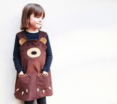 We& going on a bear hunt!Brown Teddy Bear Little girls character play dress.A perfect little gift.Wild Things Dresses promote role play whilst creating a great quality everyday dress.Ready for bear huntingClassic pinafore shape in Hunt Costume, Bear Costume, Little Girl Dresses, Little Girls, Girls Dresses, Baby & Toddler Clothing, Toddler Girl, Brown Teddy Bear, Brown Bears