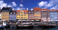 Preety harbourside houses in Copenhagen