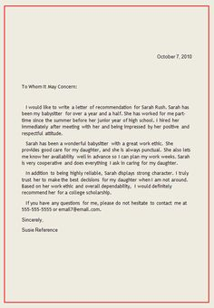 personal letter of recommendation sample for student