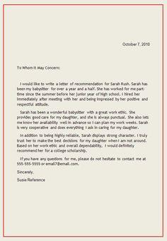 National Junior Honor Society Letter Of Recommendation Template | National Junior Honor Society Letter Recommendation Template Best