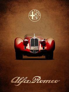 Alfa Romeo 8c Print By Mark Rogan