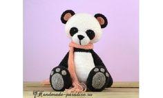 Медведь панда крючком. Вяжем игрушку на радость малышам и для пополнения коллекции вязаных игрушек в технике амигуруми.