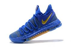 595aa3c7759e Factory Authentic Nike KD 10 Celebration Finals PE Racer Blue Metallic Gold  897815-403 Kevin