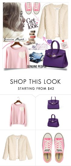 """Genuine-People Lady"" by lillili25 ❤ liked on Polyvore featuring White Label, Converse and Genuine_People"