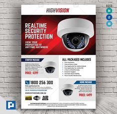 This CCTV Camera Store Flyer Design has been develop to boost your marketing campaign. Resume Design, Flyer Design, Psd Templates, Flyer Template, Promo Flyer, Home Electrical Wiring, Camera Store, Marketing Opportunities, Cv Design