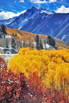 Colorado's beautiful mountain scenery is breathtaking!