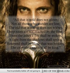 """17 Perfect """"Lord of the Rings"""" Movie Quotes - Lord of the RIngs Memes and Funny Pics - Lord of the Meme"""
