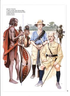 King's African Rifles in East Africa with the Masai