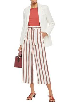 Shop on-sale Twill blazer. Browse other discount designer Blazers & more luxury fashion pieces at THE OUTNET Maje Clothing, Welt Pocket, Shoulder Pads, World Of Fashion, Luxury Branding, Midi Skirt, Ivory, Blazer, Skirts