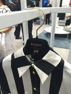 H&M Balmain Striped Shirt Launch Party, Balmain, Vip, Product Launch, Shirt, Dress Shirt, Shirts, Basketball Jersey