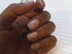 Nude nails for us black gals!