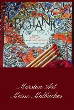 Manic Botanic mit wunderschönen verschlungenen Bildern von der Künstlerin Irina Vinnik ist Teil meiner Malbuchsammlung. Meine bereits kolorierten Bilder aus diesem Buch sowie auch Tipps und Tutorials findest Du auf meiner Homepage. Viel Spaß! Marston Art