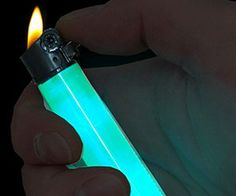 With the glow in the dark lighter by your side, the days of fumbling around the dark looking for a lighter are over. Each disposable lighter emits a playful glow that makes the lighter easy to spot from anywhere in the room. It also doubles as a cool glow stick at parties.