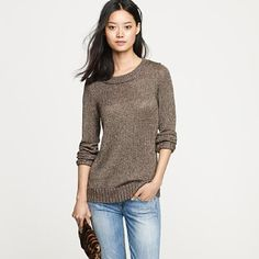 """I love the """"chunky"""" look to this still light sweater. how can you go wrong? Sweaters And Jeans, Cute Sweaters, Sweaters For Women, Cardigans, Pretty Outfits, Beautiful Outfits, Cute Outfits, Pretty Clothes, Cute Fashion"""