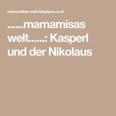 ......mamamisas welt......: Kasperl und der Nikolaus