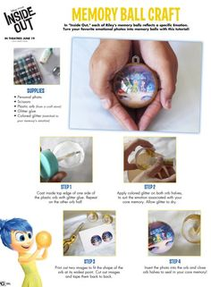 how to make a Inside Out Memory Ball-I think this could be a good grief counseling activity