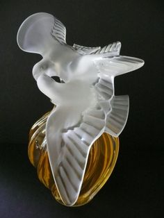 "HUGE L'Air du Temps 43 oz Perfume~Nina Ricci~RARE 12"" Doves LALIQUE Bottle~MINT | eBay"
