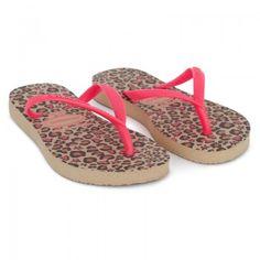 Havaianas Kids Girls Leopard Print Slim Flip Flops   AlexandAlexa