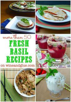 50 Fresh Basil Recipes to use that yummy summer herb! via