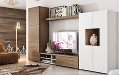 Contemporary wall storage system with cabinet, tv unit and tall cabinet Living Room Tv, Living Room Wall Units, Home And Living, Furniture, Living Room Designs, Home Living Room, Wall Storage Systems, Wall Unit, Living Room Storage