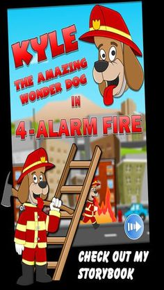 Exciting* Fun* If you love the game 'Ladder Mania!' you will love the story that goes with it. Kyle, the Amazing Wonder Dog! #firefighters #readingisfun #funactivities #WonderDog #LadderMania #kidapproved