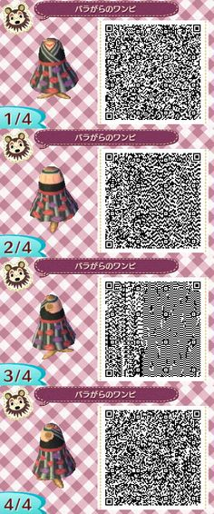 Animal crossing new leaf qr code rose dress