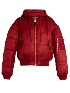 X Alpha Industries reversible hooded bomber jacket   Vetements   MATCHESFASHION.COM US