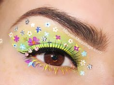 """Maryam Maquillage does a Spring """"Fantasy Florals"""" look using all Lime Crime eyeliners."""