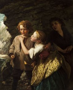 Image issue du site Web http://www.theknohlcollection.com/wp-content/uploads/2014/02/Enoch-Philip-and-Annie-in-the-Cave-c.-1865-James-Sant-R.A.-British-1820%E2%80%901916.jpg