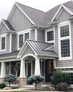 Two Tone Exterior House Colors Sophisticated
