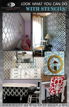 Cutting Edge Stencils: 6 Unique Ways to Transform a Room for Under $50 « Stencil, stencil on the wall