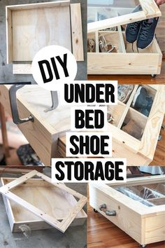 Learn how to make DIY under bed storage which is perfect for anything including shoes with the full tutorial, plans, and video. #storage #shoestorage #AnikasDIYLife Furniture Plans, Diy Furniture, Modern Furniture, Scrap Wood Projects, Woodworking Projects That Sell, Under Bed Shoe Storage, How To Make Diy, Wood Working For Beginners, Easy Home Decor