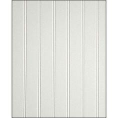 """LR & Hallways, 3/4 way up wall: FashionWall 3/16""""D x 4'W x 8'H White Hardboard Wall Panel"""