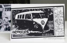 Great card by Godelieve Tijskens using the Kombi Photo Stamp by Darkroom Door #darkroomdoor #kombi