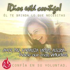 ¡Dios está contigo! #Fe #Dios #Esperanza #Alegría #Jesús