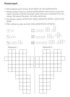 Peittämispeli. Math 2, Fun Math, Math Games, Math For Kids, Group Activities, Teaching Math, Second Grade, Classroom, How To Get