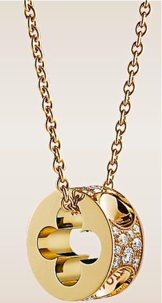 Louis Vuitton 18k & diamond pendant